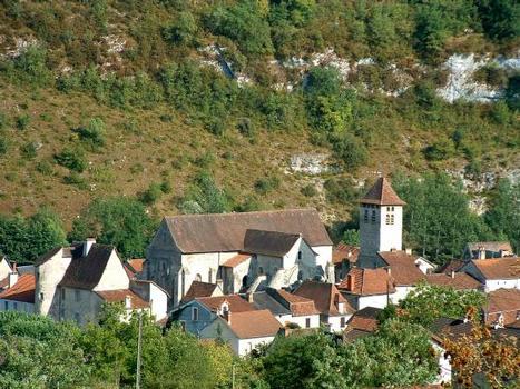 Abbaye de Marcilhac-sur-Célé Vue générale de l'abbaye