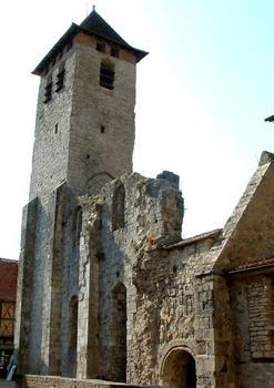 Abbaye de Marcilhac-sur-Célé Tour, ruines de la partie romane et portail Sud de l'abbatiale