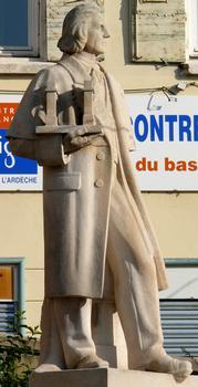 Statue of Marc Seguin, place de la Liberté at Annonay