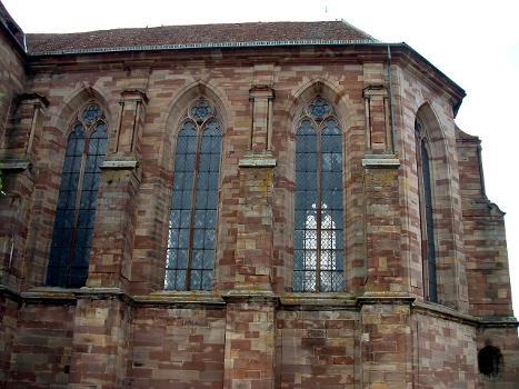 Eglise Saint-Etienne (Ancienne abbatiale Saint-Martin), Marmoutier  Choeur - Extérieur