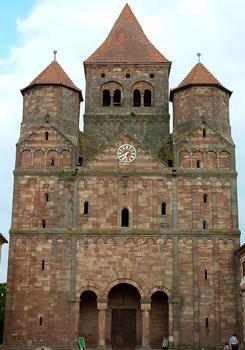 Eglise Saint-Etienne (Ancienne abbatiale Saint-Martin), Marmoutier  Façade occidentale - Ensemble