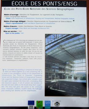 Ecole Nationale des Ponts et Chaussées - Panneau d'information
