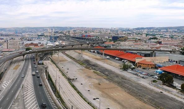 Autoroute A 55 & Port autonome de Marseille – Viaduc d'Arenc