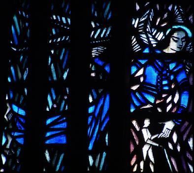 Eglise Sainte-Thérèse-de-l'Enfant-Jésus, MetzVitrail claustra