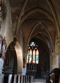 Eglise Saint-Eucaire, Metz.Bas-côté nord