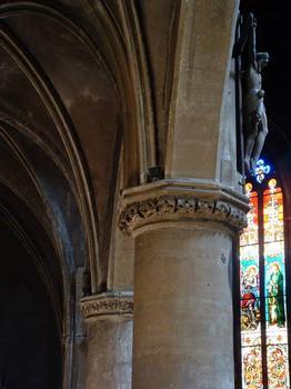 Eglise Saint-Eucaire, Metz.Pilier de la nef