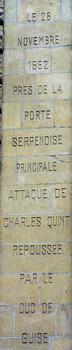 Metz - Porte Serpenoise - Inscription - 1552