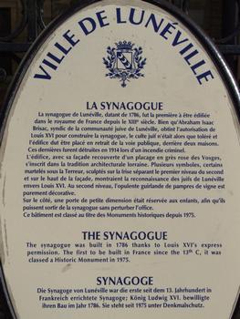 Lunéville - Synagogue