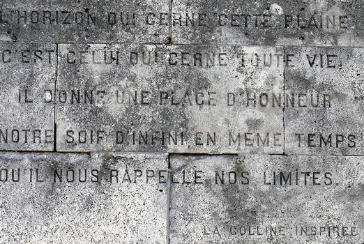 Signal de Vaudémont - Monument Barrès - Un extrait de «La colline inspirée»