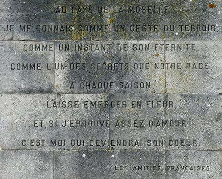 Signal de Vaudémont - Monument Barrès - Un extrait de «Les amitiés françaises»