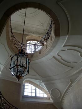 Pont-à-Mousson - Abbaye des Prémontrés - Escalier ovale