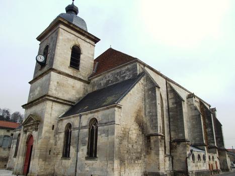Saint-Mihiel - Eglise Saint-Etienne - Façade occidentale et clocher