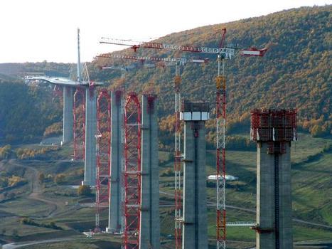 Viaduc de MillauLançage du tablier côté Sud
