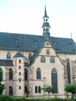 Molsheim - Eglise Saint-Geoges et de la Trinité (ancienne église des Jésuites) - Façade côté Sud - Transept (chapelle de la Vierge)