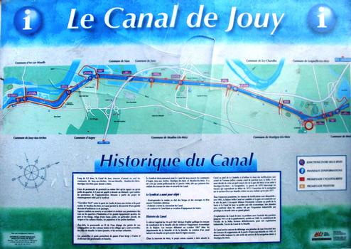 Canal de Jouy à Metz - Panneau d'information