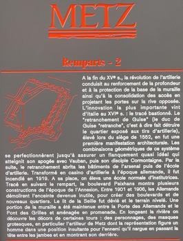 Remparts de Metz - Panneau d'information