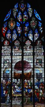 Moulins - Cathédrale Notre-Dame - Partie haute du choeur - Vitrail de la mort de la Vierge