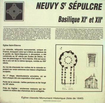 Neuvy-Saint-Sépulchre - Basilique Saint-Etienne - Panneau d'information