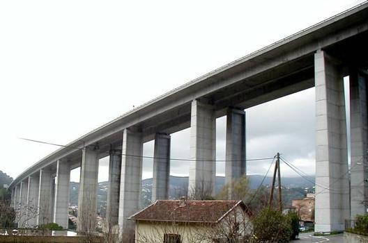 Autoroute A8. Viaduc de l'Oli