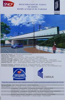 Nouveau pont ferroviaire d'Oissel - Panneau d'information