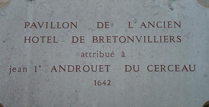 Pavillon of the Hôtel de Bretonvilliers, Paris