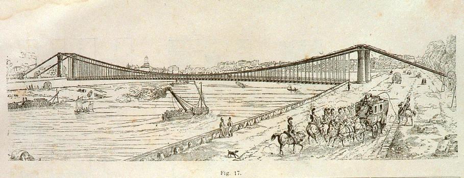 Pont des Invalides (1826) - Coupe longitudinale