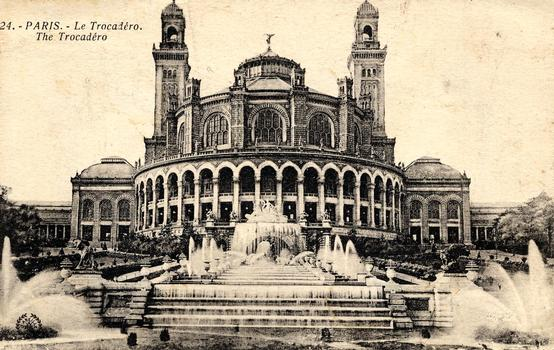 Trocadéro-Palast Alte Postkarte