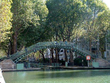Paris - Canal Saint-Martin - Passerelle de la Douane