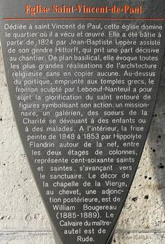 Paris 10ème arrondissement - Eglise Saint-Vincent-de-Paul - Panneau d'information : Paris 10 ème arrondissement - Eglise Saint-Vincent-de-Paul - Panneau d'information