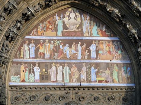 Paris 10ème arrondissement - Eglise Saint-Laurent - Portail central - Tympan
