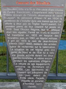 Paris 10ème arrondissement - Maison de l'architecture - couvent des Récollets - Panneau d'information : Paris 10 ème arrondissement - Maison de l'architecture - couvent des Récollets - Panneau d'information