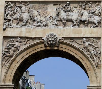 Paris 10 ème arrondissement - Porte Saint-Denis - Côté sud - Passage du Rhin à Tholus
