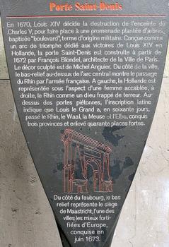 Paris 10ème arrondissement - Porte Saint-Denis - Panneau d'information