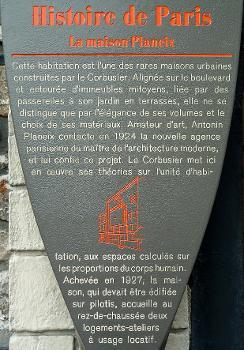 Paris 13 - 24 bis boulevard Masséna - Maison planeix - Panneau d'information