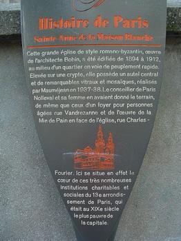 Paris 13ème arrondissement - Eglise Sainte-Anne de la Butte-aux-Cailles - Panneau d'information : Paris 13 ème arrondissement - Eglise Sainte-Anne de la Butte-aux-Cailles - Panneau d'information