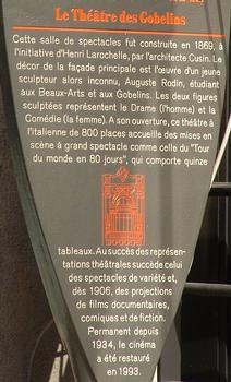Paris - Théâtre des Gobelins - Panneau d'information