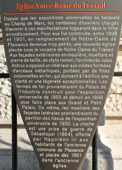 Paris 14ème arrondissement - Eglise Notre-Dame-du-Travail - Panneau d'information : Paris 14 ème arrondissement - Eglise Notre-Dame-du-Travail - Panneau d'information