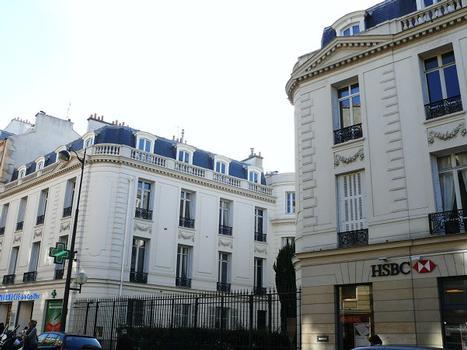 Paris 16SUP>ème arrondissement - Hôtel de Verrières - Les deux ailes ajoutées sur la rue d'Auteuil : Paris 16SUP>ème arrondissement - Hôtel de Verrières - Les deux ailes ajoutées sur la rue d'Auteuil