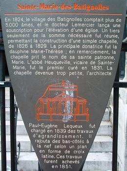 Sainte-Marie-des-Batignolles Church, Paris