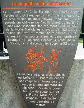 Paris - Chapelle Notre-Dame-de-la-Compassion - Panneau d'information