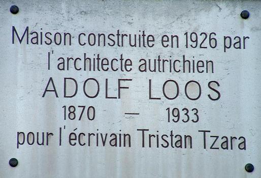 Paris - Maison Tristan Tzara - 15, avenue Junot - 18ème arrondissement - Panneau d'information