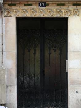 Paris 18ème arrondissement - Immeuble 17 rue Damremont - Détail