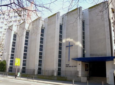 Paris 19 ème arrondissement - Eglise Notre-Dame-des-Foyers