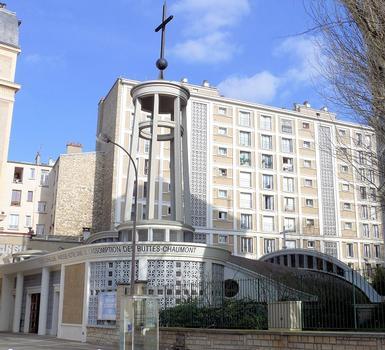 Paris 19ème arrondissement - Eglise Notre-Dame de l'Assomption des Buttes Chaumont : Paris 19 ème arrondissement - Eglise Notre-Dame de l'Assomption des Buttes Chaumont
