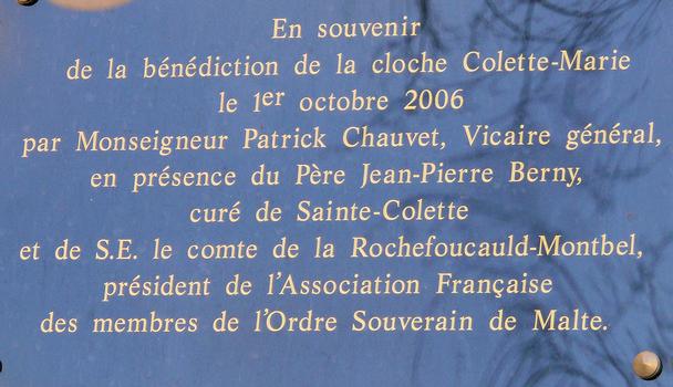 Paris 19ème arrondissement - Eglise Sainte-Colette Panneau commémoratif