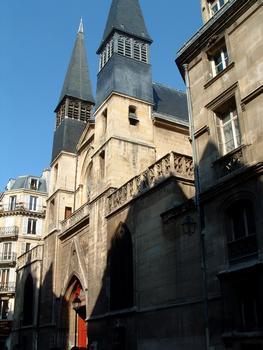 Paris - Eglise Saint-Leu-Saint-Gilles - 92, rue Saint-Denis - Façade sur la rue