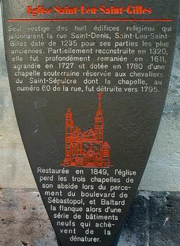 Paris - Eglise Saint-Leu-Saint-Gilles - Panneau d'information