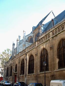 Paris - Eglise Saint-Leu-Saint-Gilles - Bas côté le long de la rue du Cygne