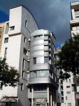 Paris 20ème arrondissement - Immeuble du 100 boulevard de Belleville de 47 logements sociaux de l'architecte Frédéric Borel