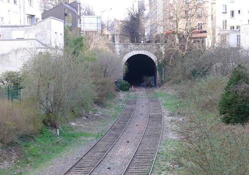 Petite ceinture - Tunnel de la rue Sorbier dans le 20ème arrondissement